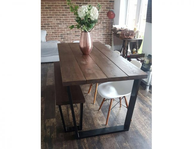 Besoke Dining Table And Bench